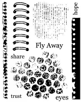 Art Journey - Unmounted Rubber Stamps - Pages