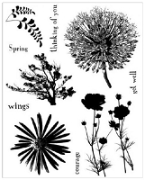 Art Journey - Unmounted Rubber Stamps - Nature 3