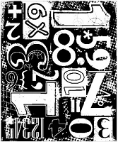 Art Journey - Unmounted Rubber Stamps - Numbers Blockprint