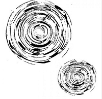 Art Journey - Unmounted Rubber Stamps - Ripples Small
