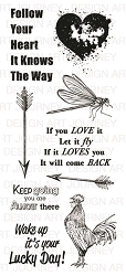 Art Journey - Unmounted Rubber Stamps - Follow your heart