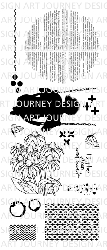 Art Journey - Unmounted Rubber Stamps - To the moon and back