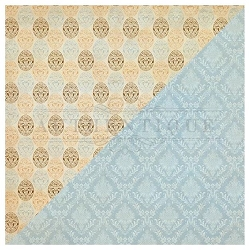 Authentique - Abundant Collection - One, Vintage eggs/blue damask - 12