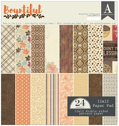 Authentique - Bountiful Collection - 12x12 paper pad