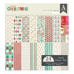 Authentique - Colorful Christmas Collection - 12x12 paper pad