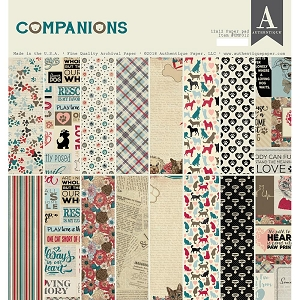 Authentique - Companions Collection - 12x12 paper pad