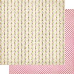 Authentique - Cottontail Collection - One, Carrots/Pink gingham - 12