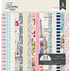 Authentique - Dame Collection - 12x12 paper pad