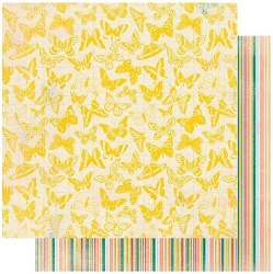 Authentique - Endless Collection - Five, Yellow butterflies/Stripes - 12