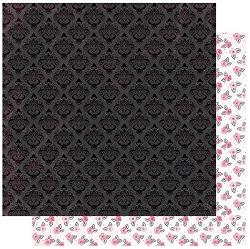 Authentique - Flawless Collection - Three, pink floral/black damask - 12