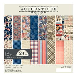 Authentique - Heroic Collection - 6x6 Paper Pad :)