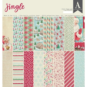 Authentique - Jingle Collection - 12x12 paper pad