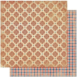 Authentique - Liberty Collection - Five, Gingham/Americana motif - 12