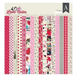 Authentique - Love Notes Collection - 12x12 paper pad