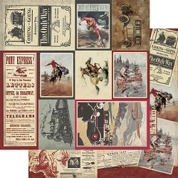 Authentique - Manly Collection - Eight, Vintage Masculine cut-out cards/Collage - 12