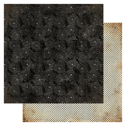 Authentique - Masquerade Collection - Two, spiderwebs/black dots - 12