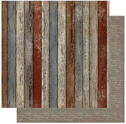 Authentique - Mister Collection - Four, Painted Planks/Bricks - 12