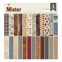 Authentique - Mister Collection - 12x12 paper pad