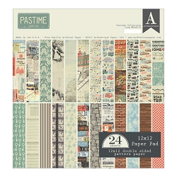 Authentique - Pastime Collection - 12x12 paper pad