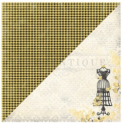 Authentique - Poised Collection - One, Dress Form/Yellow Houndstooth - 12