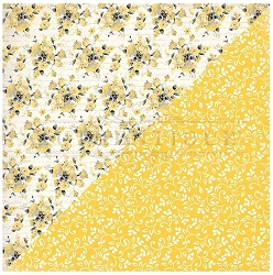 Authentique - Poised Collection - Five, Yellow Floral - 12