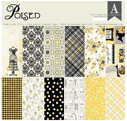 Authentique - Poised Collection - 12x12 paper pad