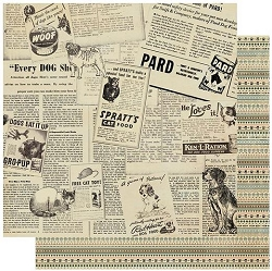 Authentique - Purebred Collection - Two, Pet Newspaper/Borders - 12