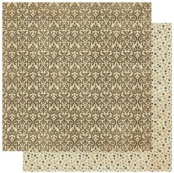 Authentique - Purebred Collection - Three, Brown Swirls/Paw Prints - 12