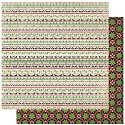 Authentique - Rejoice Collection - Two, Christmas Quilt/Icon Strips - 12