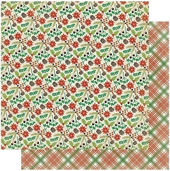 Authentique - Rejoice Collection - Four, Christmas tartan/Greenery - 12