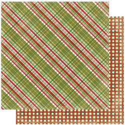 Authentique - Rejoice Collection - Six, Christmas plaid/stars - 12