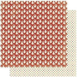 Authentique - Rejoice Collection - Seven, Christmas polka dots/reindeer - 12