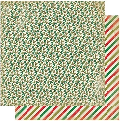 Authentique - Rejoice Collection - Nine, Mini holly/Christmas stripes - 12