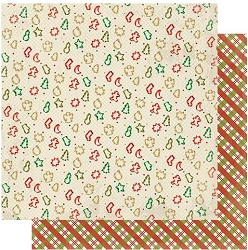 Authentique - Rejoice Collection - Thirteen, Cookie cutters/Christmas plaid - 12