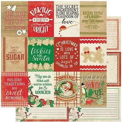 Authentique - Rejoice Collection - Twenty, Baking sentiments/recipe cards - 12