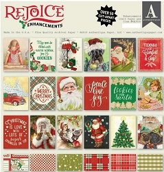 Authentique - Rejoice Collection - Enhancements 12x12 paper pad