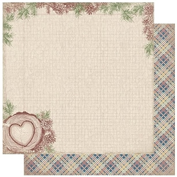 Authentique - Rustic Collection - One, plaid/Pines & Graph - 12