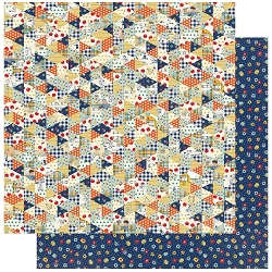 Authentique - Scholastic Collection - One, Calico Floral/Quilt - 12