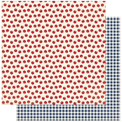 Authentique - Scholastic Collection - Six, Apples/Blue Gingham - 12