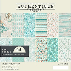 Authentique - Sea-Maiden Collection - 6x6 Paper Pad