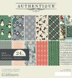 Authentique - Snowfall Collection - 6x6 Paper Pad