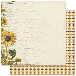 Authentique - Splendor Collection - One, sunflower/fall argyle - 12