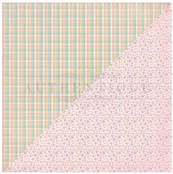 Authentique - Swaddle Girl Collection - Two, pink hearts/pastel plaid