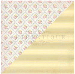 Authentique - Swaddle Girl Collection - Three, yellow stripe/floral quilt
