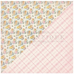 Authentique - Swaddle Girl Collection - Five, pink plaid/retro babies
