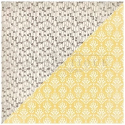 Authentique - Swaddle Girl Collection - Six, yellow damask/diaper pins