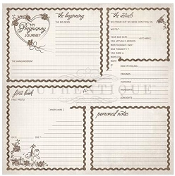 Authentique - Swaddle Girl Collection - Eight, milestone journaling cards