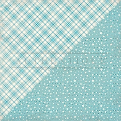 Authentique - Swaddle Boy Collection - Five, blue stars/blue plaid