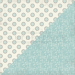 Authentique - Swaddle Boy Collection - Seven, baby icons/gingham dots
