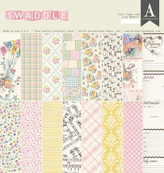 Authentique - Swaddle Girl Collection - 12x12 paper pad